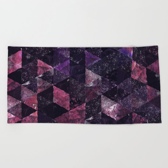 Abstract Geometric Background #13 Beach Towel