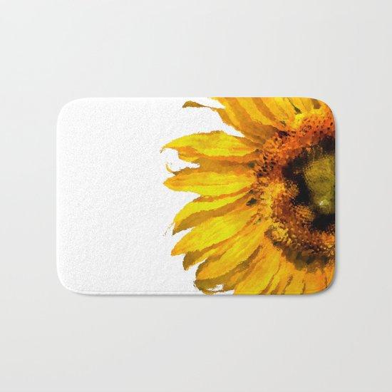 Simply a sunflower Bath Mat