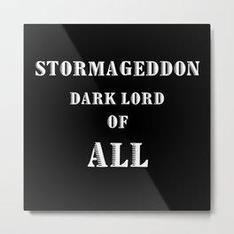 Doctor Who Stormageddon Dark Lord of All Metal Print