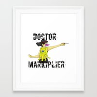markiplier Framed Art Prints featuring Doctor Markiplier by doodle bags