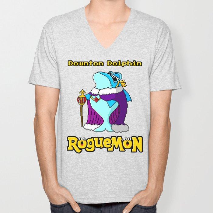 Downton Dolphin Unisex V-Neck