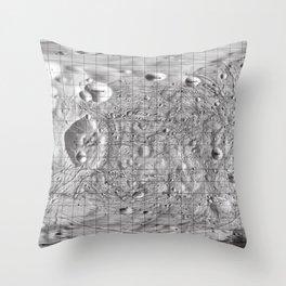 Map of Phobos, Moon of Mars Throw Pillow