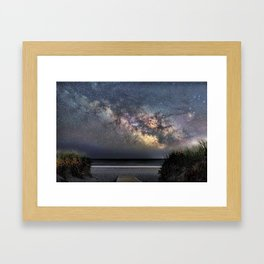 Sea of Stars at the beach Framed Art Print