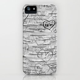 Love Memories in Lover's Lane, Green Gables, black white iPhone Case
