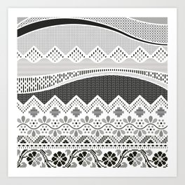 Layers of Culture - Decorative pattern based on the layers of soil Art Print
