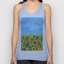 Sunflower Field Unisex Tank Top