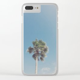 Lone Palm Clear iPhone Case