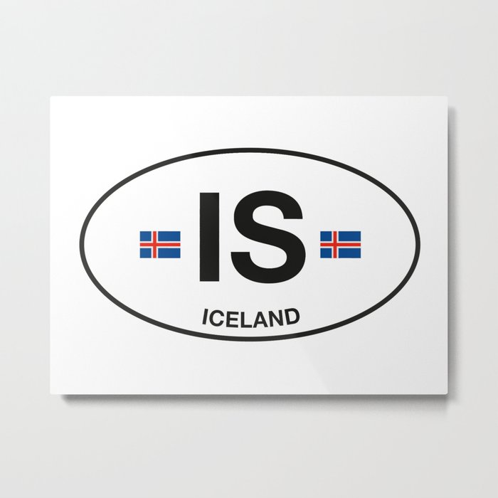Iceland Country Code Metal Print