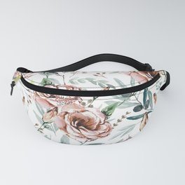 Floral Explosion - White Fanny Pack