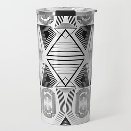 "Art Deco. ""Black and light gray"" 28 . Travel Mug"