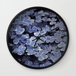 Clover Luck Wall Clock