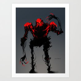Red Clan Aggressor Art Print