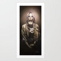 kurt cobain Art Prints featuring Kurt by Jordan Dean