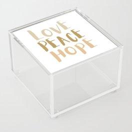 Love, Peace, & Hope Acrylic Box