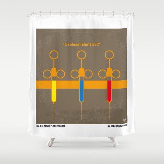 No165 My Planet terror minimal movie poster Shower Curtain