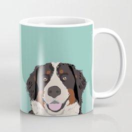 Bernese Mountain Dog pet portrait dog art illustration fur baby dog breed unique gift for dog lover  Coffee Mug