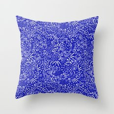 Midnight Floral Throw Pillow