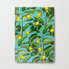 Lemon and Leaf II Metal Print