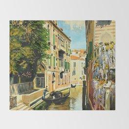 Venezia - Venice Italy Vintage Travel Throw Blanket