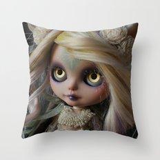 ANCIENT FOREST DEER SPIRIT (Ooak BLYTHE Doll) Throw Pillow