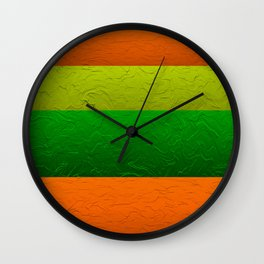 Orange Lime and Green Passion Wall Clock