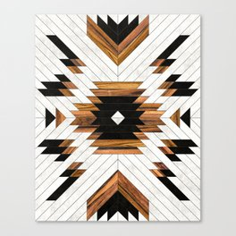Urban Tribal Pattern 5 - Aztec - Concrete and Wood Canvas Print