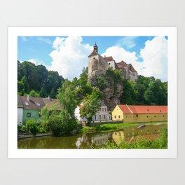 A Summer Day-Raabs, Austria Art Print