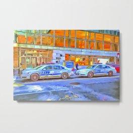New York Police Department Pop Art Metal Print