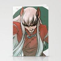 inuyasha Stationery Cards featuring Inuyasha by LaurenceBaldetti