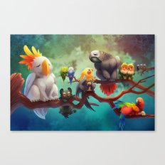 Griffins of a Feather Canvas Print