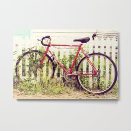 Ivy Bike Metal Print