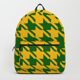 Hounds Tooth Gold & Green Backpack