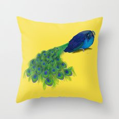 The Beauty That Sleeps - Peacock Painting Throw Pillow