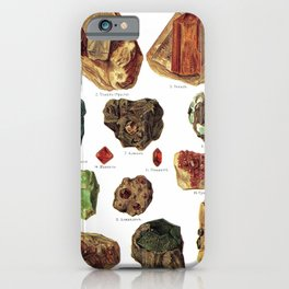 Vintage Gems And Minerals iPhone Case