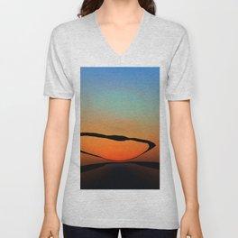 Colorful Bright Modern Art - Eternal Light 2 - Sharon Cummings Unisex V-Neck