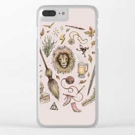 Gryffindor, Courageous and Brave! Clear iPhone Case
