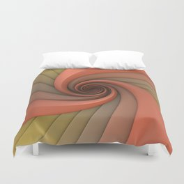 Spiral in Earth Tones Duvet Cover