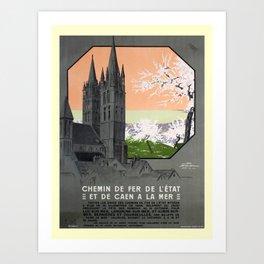 retro De Caen a la Mer Art Print