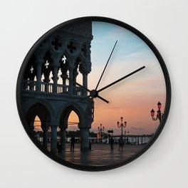 Venice at Dawn 1 Wall Clock