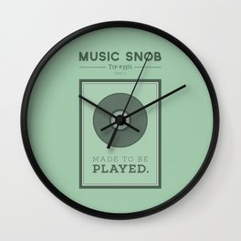 Made to be Played — Music Snob Tip #33⅓ A Wall Clock