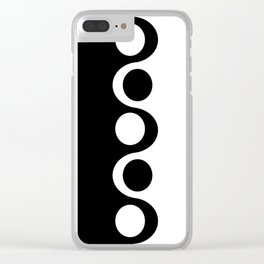 Black and White Mod Clear iPhone Case