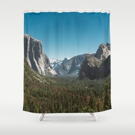 Tunnel View, Yosemite National Park V Shower Curtain