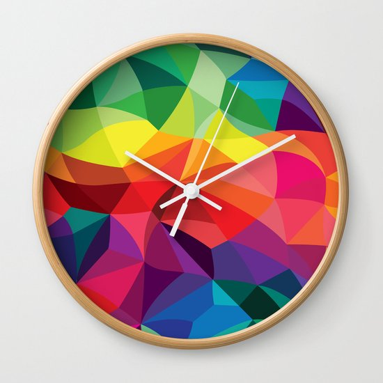 Color Shards Wall Clock