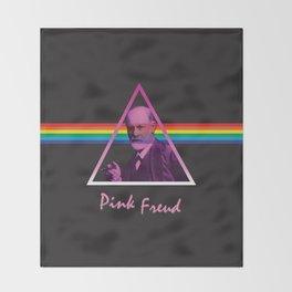 Pink Freud Throw Blanket