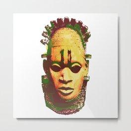 African Mask Metal Print