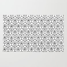 Hand Drawn Hypercube Rug