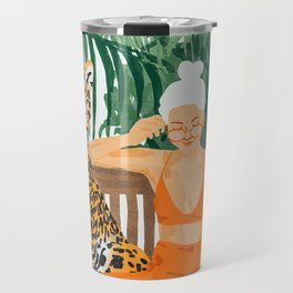 Jungle Vacay #painting #illustration Travel Mug