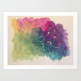 Colour carnival Art Print
