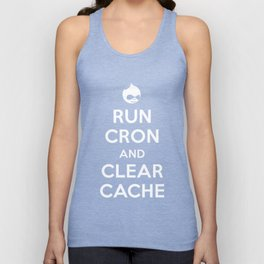 Run Cron and Clear Cache Unisex Tank Top