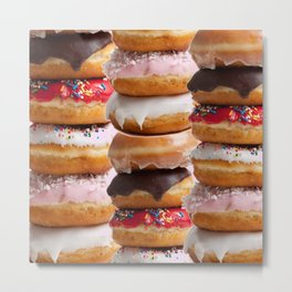 LOVE MY CHOCOLATE  DONUTS & COOKIES Metal Print